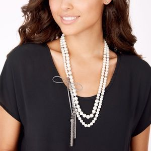 Stella and dot Mara pearl necklace